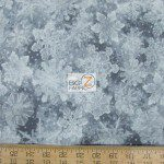 CHRISTMAS COTTON HOLIDAY ACCENTS CLASSICS METALLIC GRAY FLAKES
