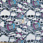 Low Price Monster High Fleece Fabric Skulls