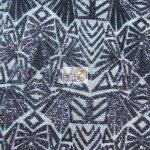 Low Price Geometric Sequins Fabric Black (Copy)