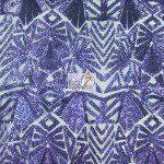 Low Price Geometric Sequins Fabric Purple