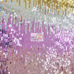 Low Price Moon Shadow Sequins Fabric Multi-Color Pink