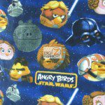 Low Price Angry Birds Fleece Fabric star wars edition
