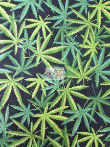 Low Price Marijuana Cotton Fabric Black