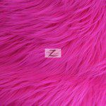 Low Priced Solid Gorilla Fur Fabric Fuchsia