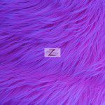 Low Priced Solid Gorilla Fur Fabric Purple