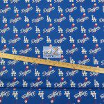 LOW PRICE MLB COTTON FABRIC LOS ANGELES DODGERS