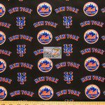 LOW PRICE MLB COTTON FABRIC NEW YORK METS