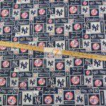 LOW PRICE MLB COTTON FABRIC NEW YORK YANKEES RETRO