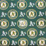 LOW PRICE MLB COTTON FABRIC OAKLAND ATHLETICS