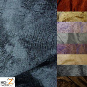 Low Price Alligator Chenille Fabric