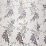 Low Price Angel Floral Sequins Fabric Gray
