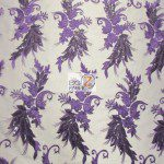 Low Price Angel Floral Sequins Fabric Purple