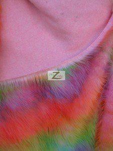 Low Price Rainbow Fur Fabric