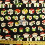 Low Price Alexander Henry Sushi Please Enjoy Cotton Fabric