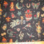 Low Price Alexander Henry Tattoo Cotton Fabric