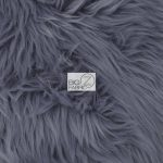 Low Price Grizzly Shaggy Fur Fabric Gray