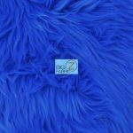 Low Price Grizzly Shaggy Fur Fabric Royal Blue