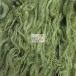 Low Price Curly Alpaca Fur Fabric Loden