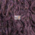 Low Price Curly Alpaca Fur Fabric Plum