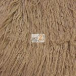 Low Price Curly Alpaca Fur Fabric Taupe