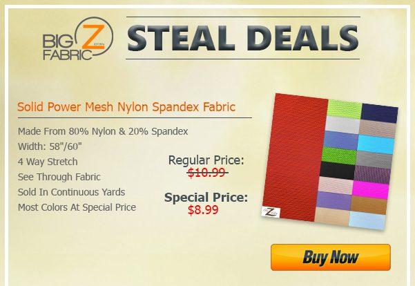 Solid Power Mesh Spandex Fabric Sale