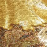 Low Price Reversible Mermaid Sequins Fabric Gold/Gold