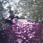 Low Price Reversible Mermaid Sequins Fabric Plum/Silver