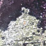 Low Price Reversible Mermaid Sequins Fabric Purple/Silver