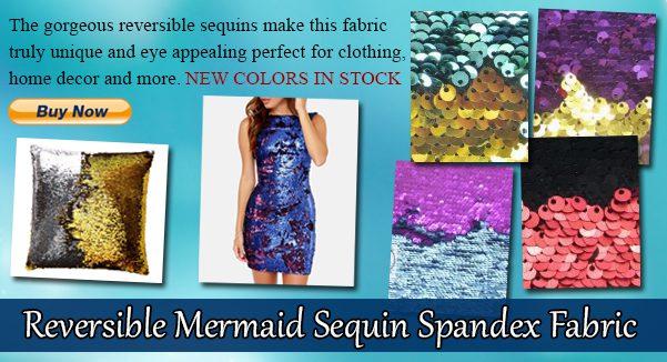 Low Price Reversible Mermaid Sequins Fabric