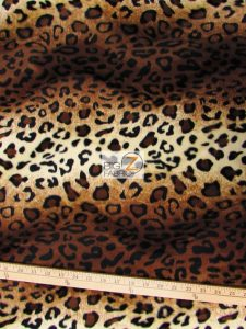 Low Price Leopard Velboa Fabric Brown