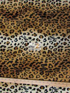 Low Price Leopard Velboa Fabric Copper
