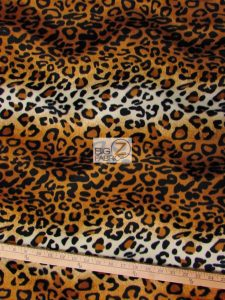 Low Price Leopard Velboa Fabric Gold