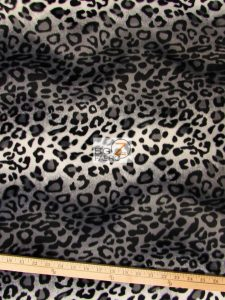 Low Price Leopard Velboa Fabric Gray