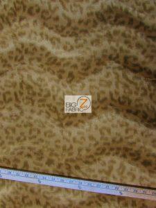 Low Price Leopard Velboa Fabric Light Coffee