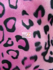 Low Price Leopard Velboa Fabric Pink