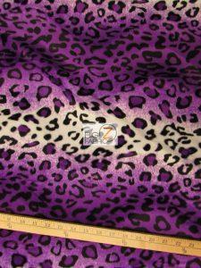 Low Price Leopard Velboa Fabric Purple