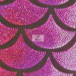Low Price Scale Foil Nylon Spandex Fabric Magenta