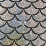 Low Price Scale Foil Nylon Spandex Fabric Silver
