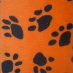 Low Price Paw Velboa Fabric Orange