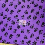 Low Price Paw Velboa Fabric Purple