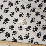 Low Price Paw Velboa Fabric White