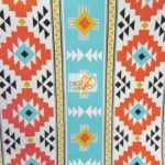 Low Price Aztec Riley Blake Cotton Duck Fabric Aqua