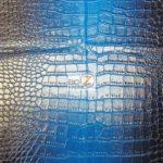 Low Price Dragon Gator Vinyl Fabric Blue