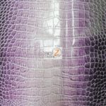 Low Price Dragon Gator Vinyl Fabric Lilac
