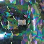 Low Price Jumbo Teardrop Sequins Fabric Black