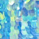 Low Price Jumbo Teardrop Sequins Fabric Blue