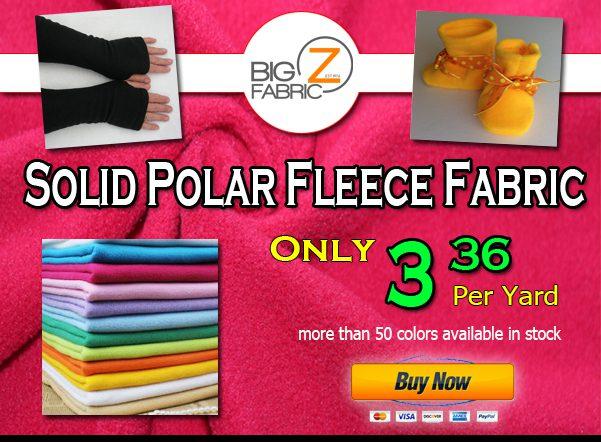 LAST DAYS TO SAVE! 15% OFF Fleece Fabric