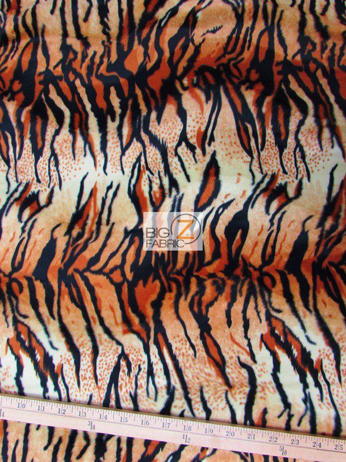 Tiger Velboa Fabric Orange