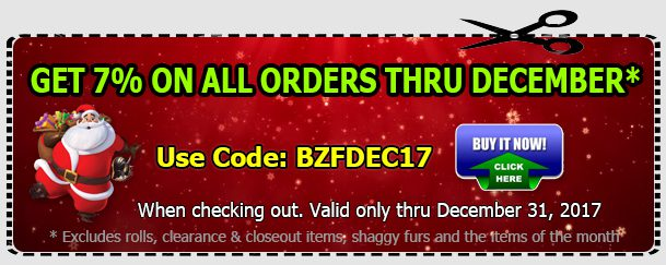 Save 7% Off – Big Z Fabric December Sale