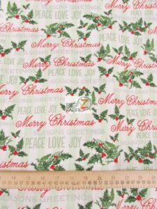 Season Greetings Peace Love Joy By Windham Fabrics